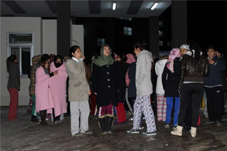 Bingöl'de Öğrenciler Kalorifer Eylemi Yaptı