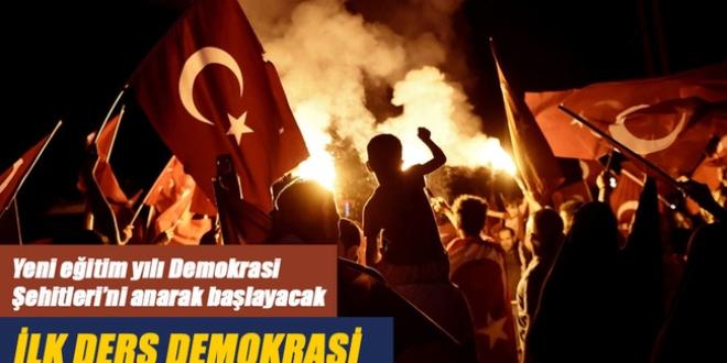 'İlk ders demokrasi'