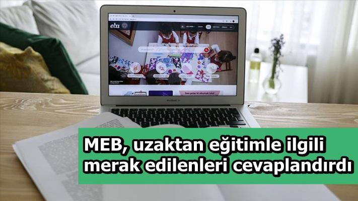 MEB, uzaktan eğitimle ilgili merak edilenleri cevaplandırdı