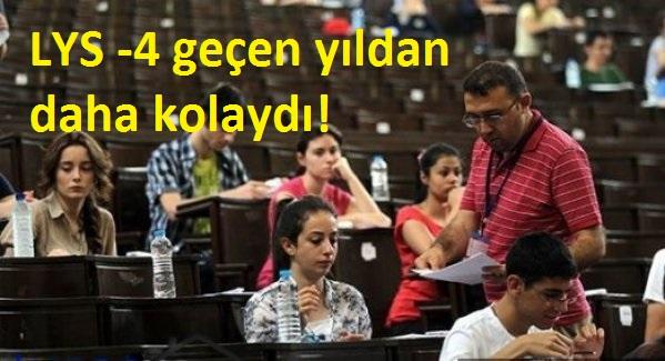 DOĞA KOLEJİ EĞİTİMCİLERİNDEN LYS-4 DEĞERLENDİRMESİ