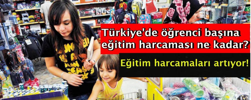 Türkiye'de öğrenci başına eğitim harcaması ne kadar?