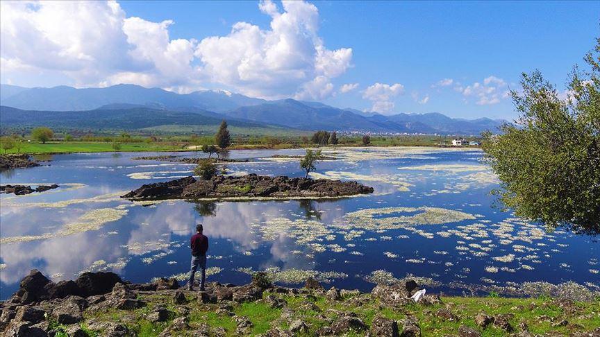 Volkanik göl turizme kazandırılacak