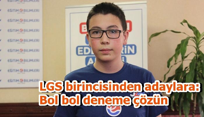 LGS birincisinden adaylara: Bol bol deneme çözün