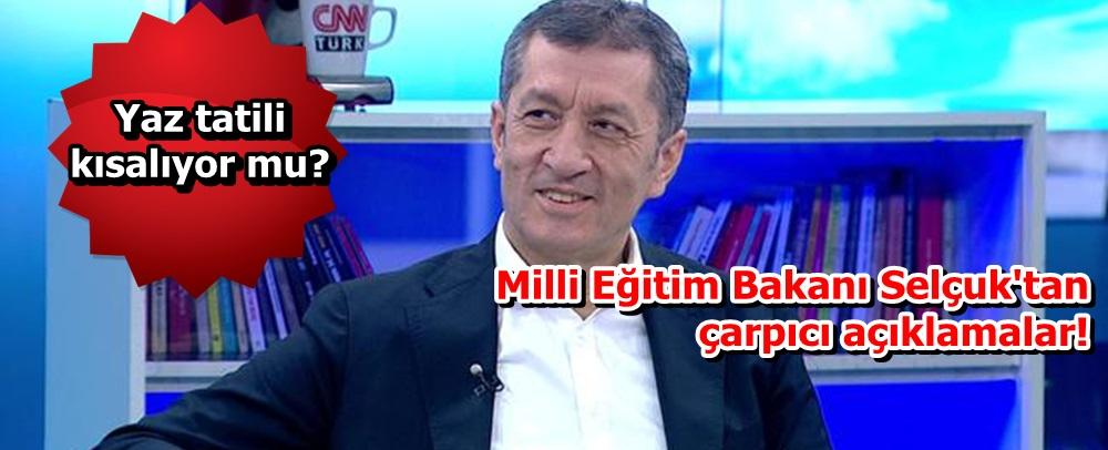 Milli Eğitim Bakanı Ziya Selçuk'tan çarpıcı açıklamalar