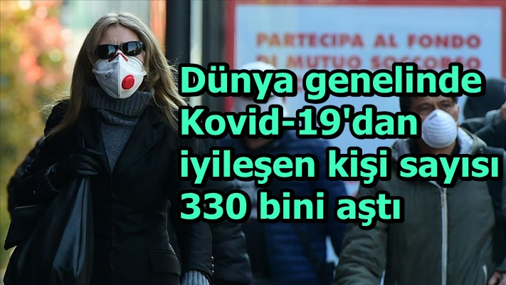 Dünya genelinde Kovid-19'dan iyileşen kişi sayısı 330 bini aştı