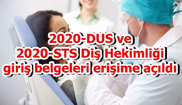 2020-DUS ve 2020-STS Diş Hekimliği giriş belgeleri erişime açıldı