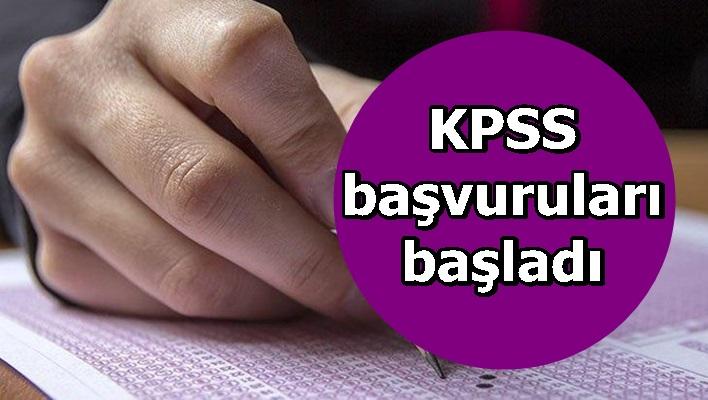 KPSS başvuruları başladı