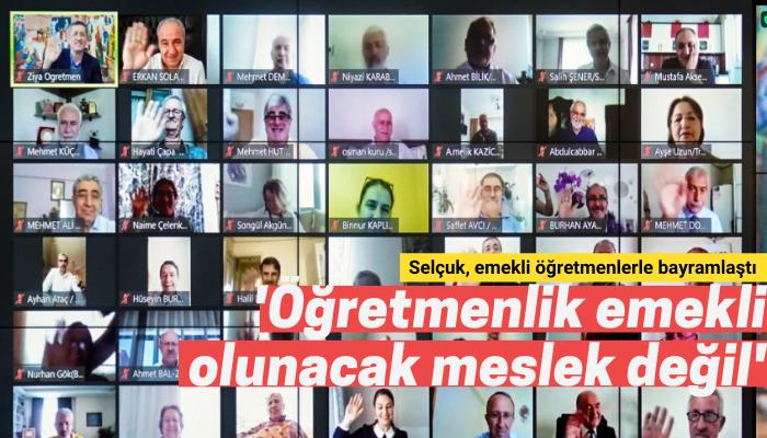 Milli Eğitim Bakanı Selçuk, emekli öğretmenlerle çevrim içi bayramlaştı