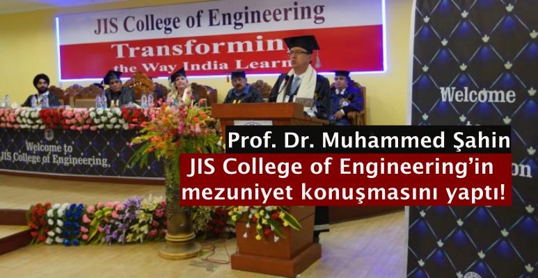 Prof. Dr. Muhammed Şahin JIS College of Engineering'in mezuniyet konuşmasını yaptı!