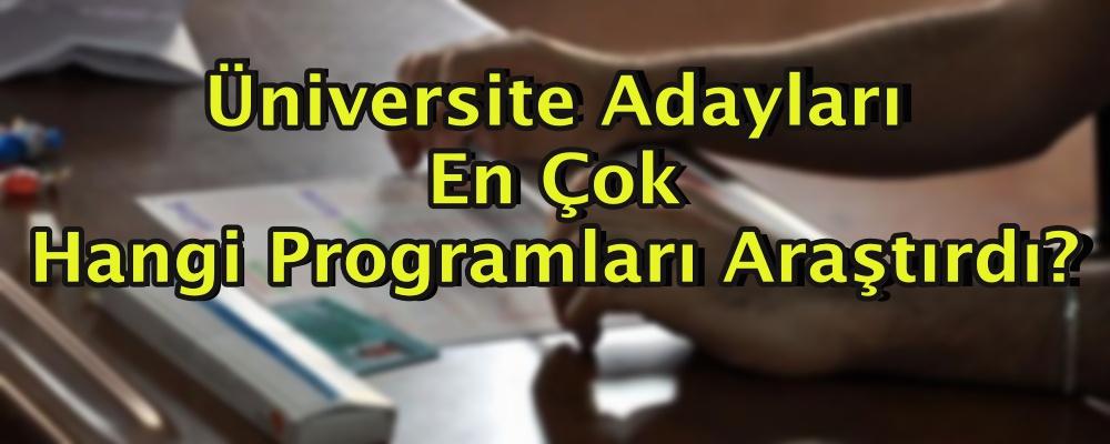 Üniversite adayları en çok hangi programları araştırdı?