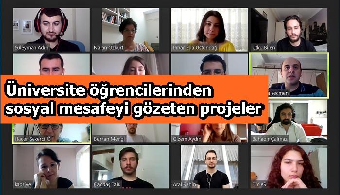 Üniversite öğrencilerinden sosyal mesafeyi gözeten projeler