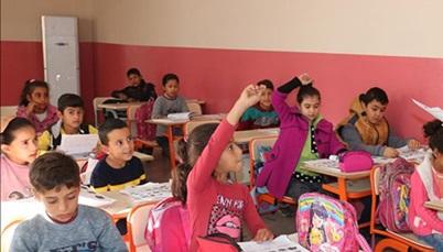 Şanlıurfa'nın sınır ilçelerindeki okullarda telafi eğitimi