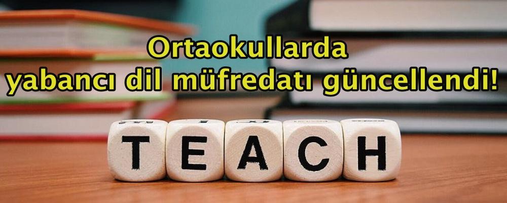 Ortaokullarda yabancı dil müfredatı güncellendi!