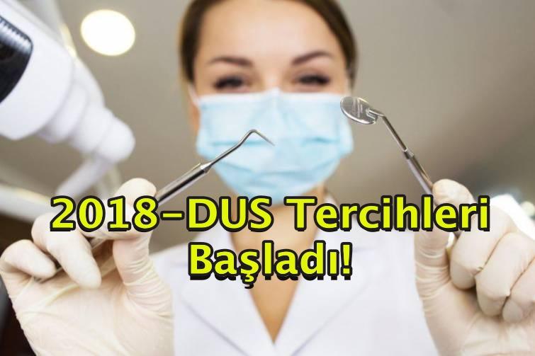 2018-DUS Tercihleri Başladı!