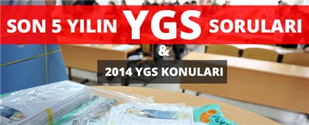 İşte 2014 YGS Konuları ve Son 5 Yılda Çıkan Tüm Sorular