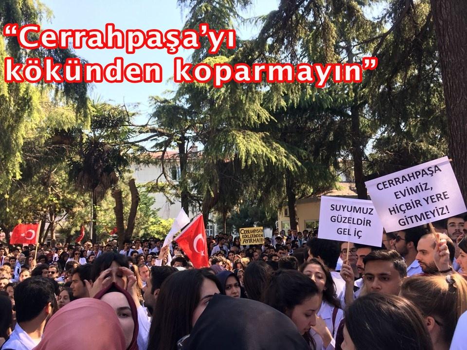 İstanbul Üniversitesi'nde protestolar sürüyor