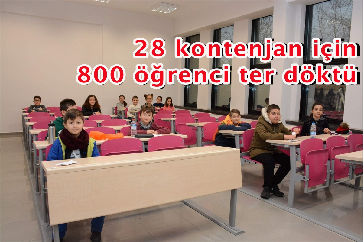 28 kontenjan için 800 öğrenci ter döktü