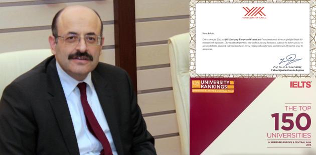 YÖK Başkanı Saraç'tan Rektörlere Tebrik Mektubu