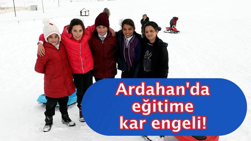 Ardahan'da eğitime kar engeli!