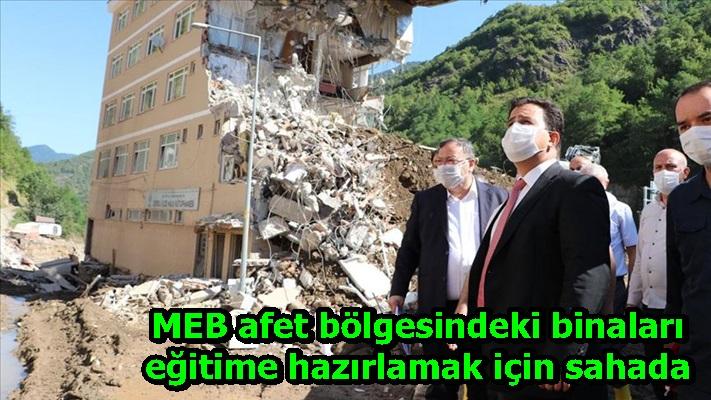 MEB afet bölgesindeki binaları eğitime hazırlamak için sahada
