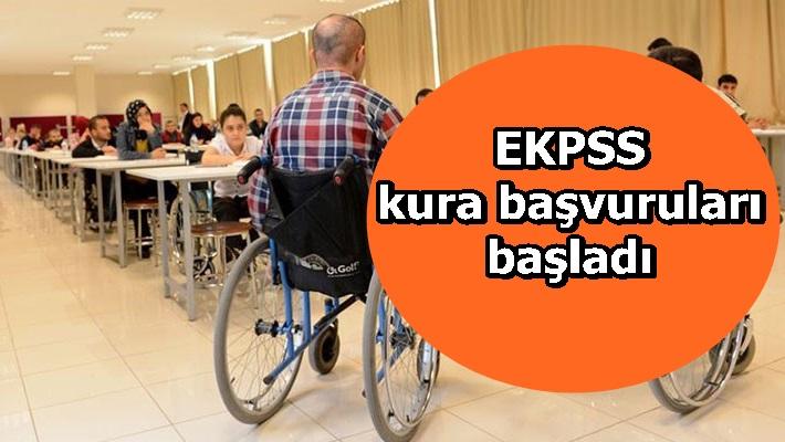 EKPSS kura başvuruları başladı