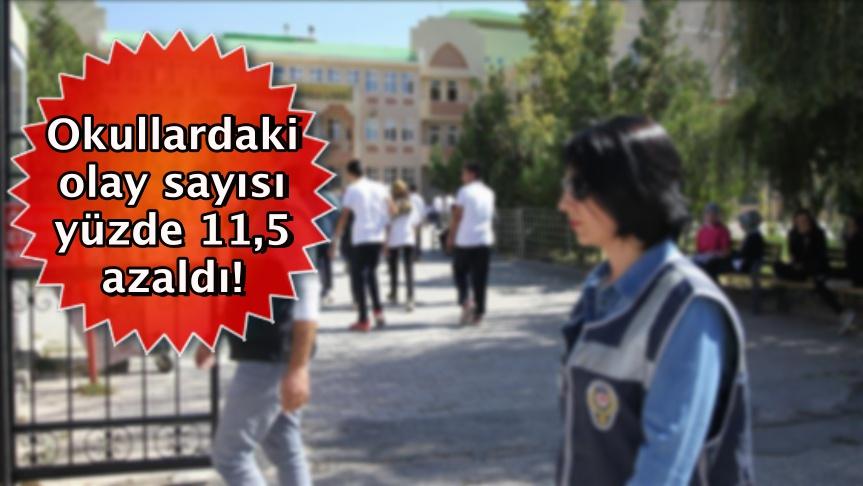 Okullardaki olay sayısı yüzde 11,5 azaldı!