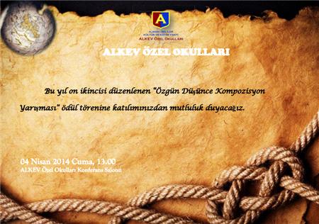 ALKEV Özel Okulları Özgün Düşünce ve Kompozisyon Yarışması Ödül Töreni