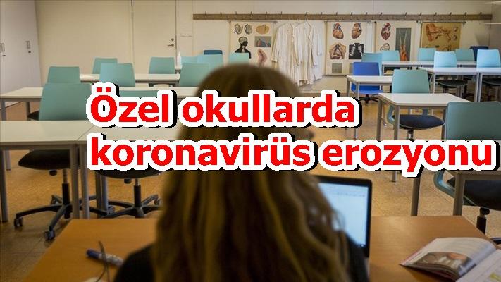 Özel okullarda koronavirüs erozyonu