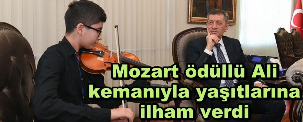 Mozart ödüllü Ali kemanıyla yaşıtlarına ilham verdi