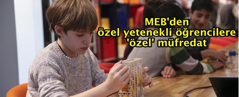 MEB'den özel yetenekli öğrencilere 'özel' müfredat