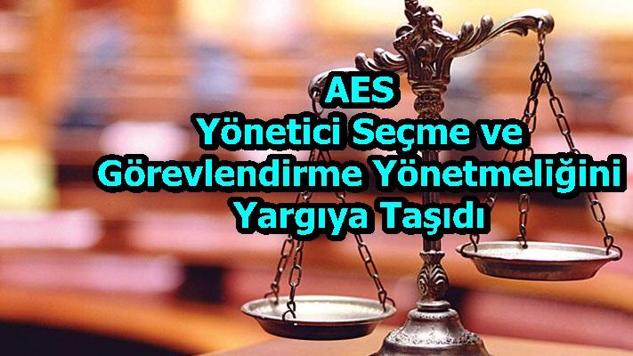 AES Yönetici Seçme ve Görevlendirme Yönetmeliğini Yargıya Taşıdı