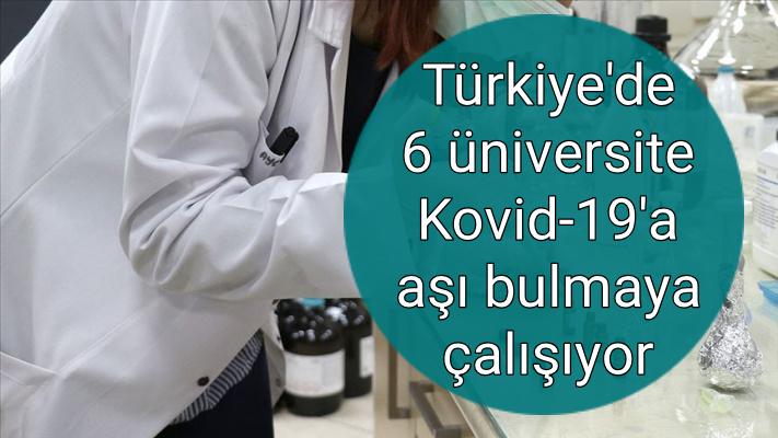 Türkiye'de 6 üniversite Kovid-19'a aşı bulmaya çalışıyor