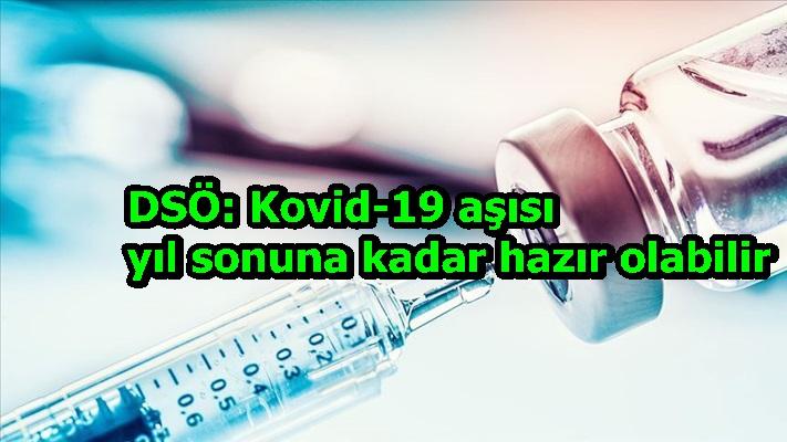 DSÖ: Kovid-19 aşısı yıl sonuna kadar hazır olabilir
