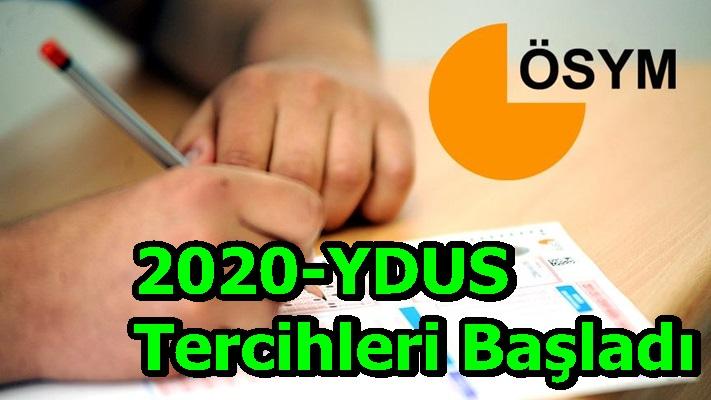 2020-YDUS Tercihleri Başladı