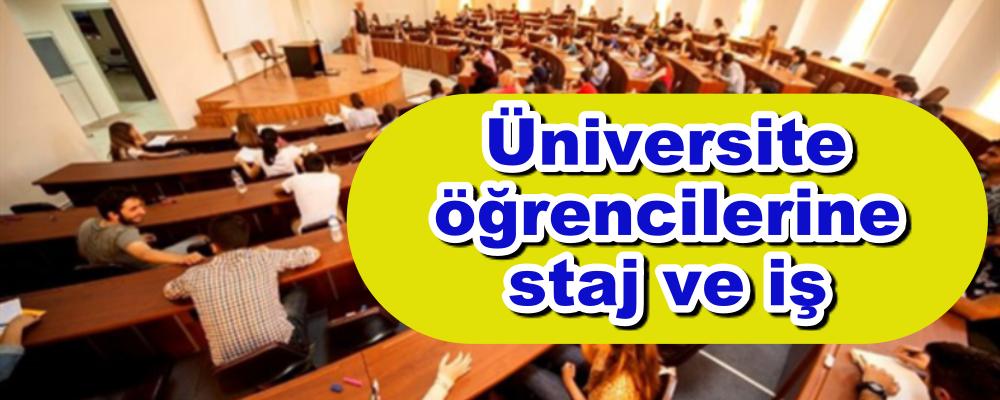 Üniversite öğrencilerine staj ve iş