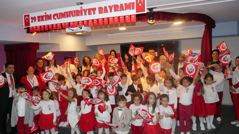 Fidol Okulları'nda ilk Cumhuriyet Bayramı heyecanı