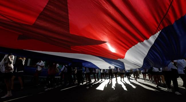 Küba'da üniversite öğrencilerinden gösteri