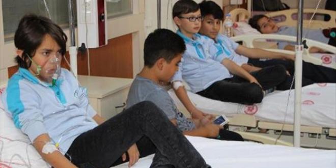 Sivas'ta 18 öğrenci,yedikleri yemekten zehirlendi