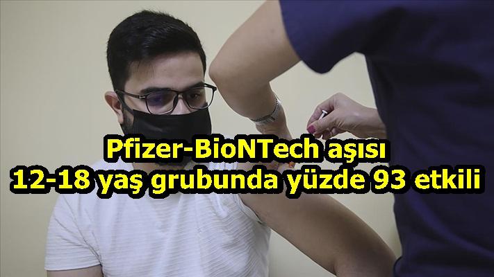 Pfizer-BioNTech aşısı 12-18 yaş grubunda yüzde 93 etkili