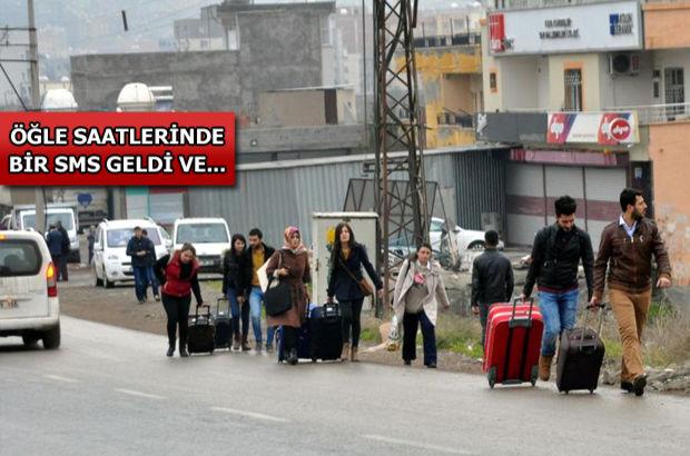 3 bin öğretmen bir SMS'le Cizre ve Silopi'yi terk etti