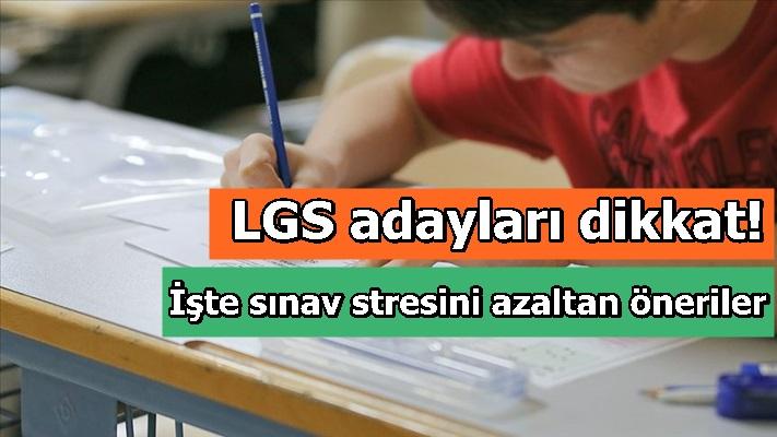 LGS adayları dikkat! İşte sınav stresini azaltan öneriler...