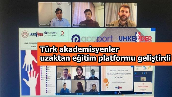 Türk akademisyenler uzaktan eğitim platformu geliştirdi