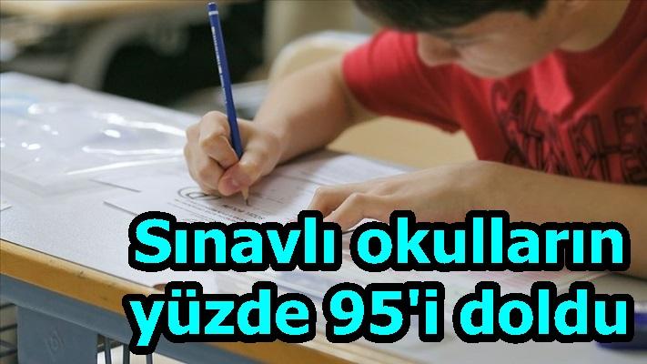 Sınavlı okulların yüzde 95'i doldu