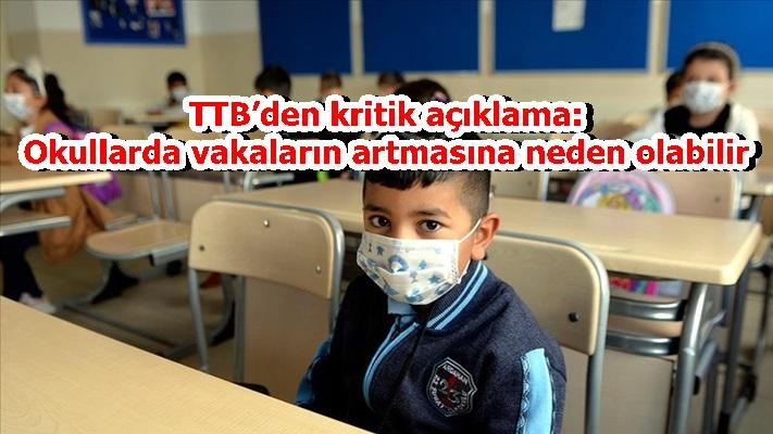 TTB'den kritik açıklama: Okullarda vakaların artmasına neden olabilir