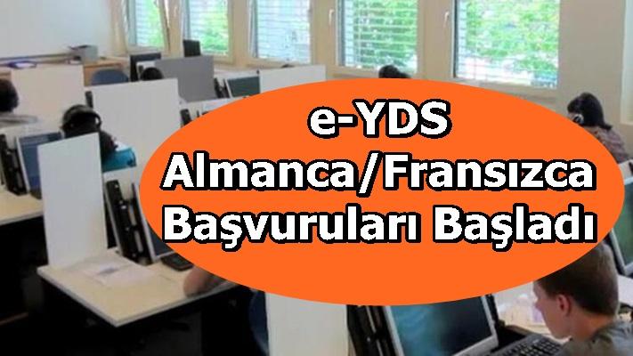 e-YDS 2020/7 Almanca/Fransızca Başvuruları Başladı