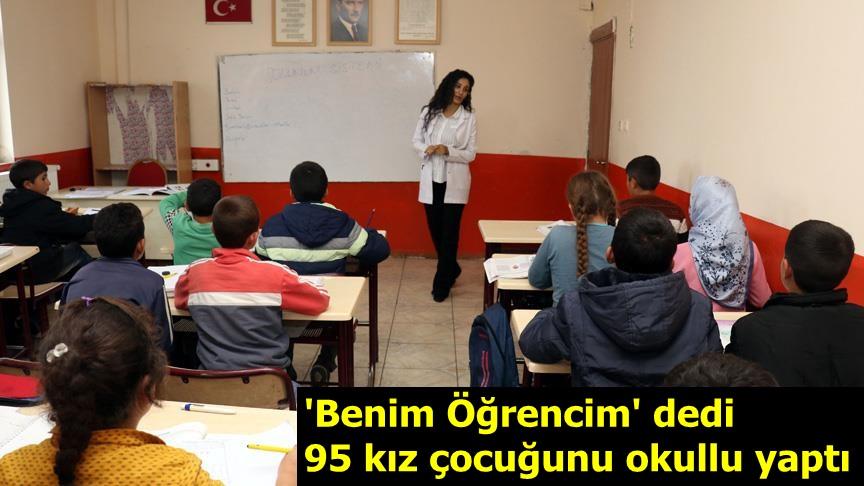 'Benim Öğrencim' dedi 95 kız çocuğunu okullu yaptı
