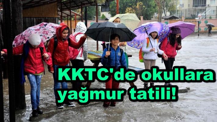 KKTC'de okullara yağmur tatili!