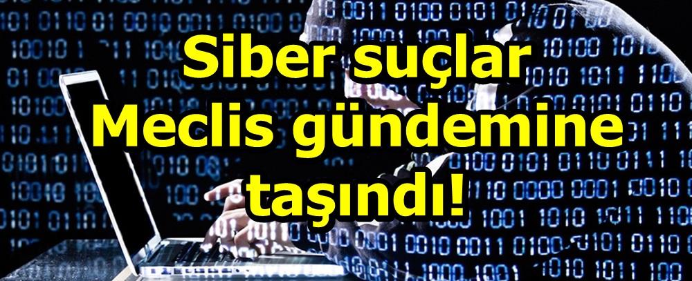 Siber suçlar Meclis gündemine taşındı!