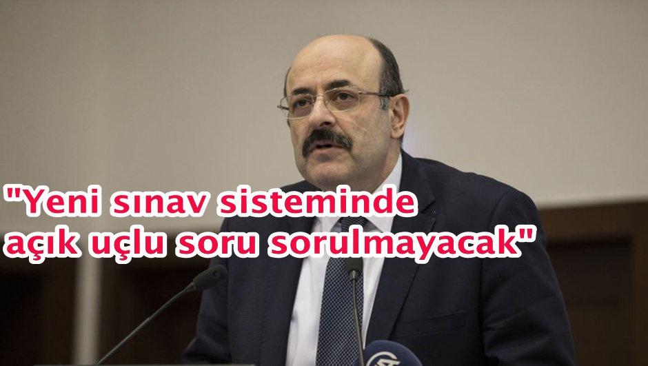 YÖK Başkanı Saraç'dan YKS açıklaması