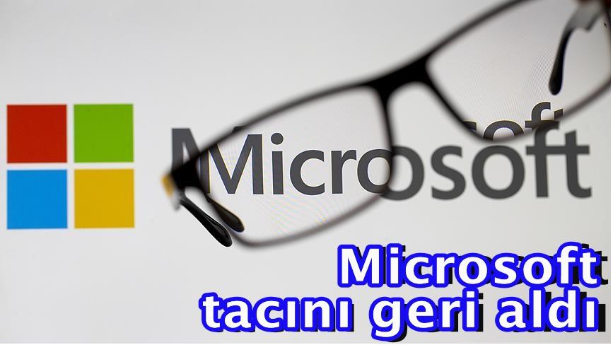 Microsoft tacını geri aldı